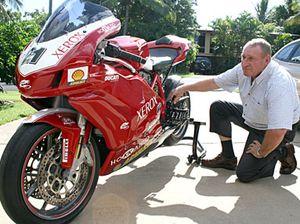 Moto sport riders ready
