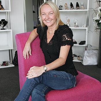 Kelly Boller, of Conspicuous Shoe Boutique, loves fabulous footwear. Photo Brett Wortman/ bw172552