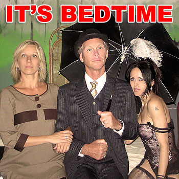 Sonia Petrack, Frank Wilkie and Kitten in A Bedful of Foreigners, opening tonight at the Noosa Arts Theatre.