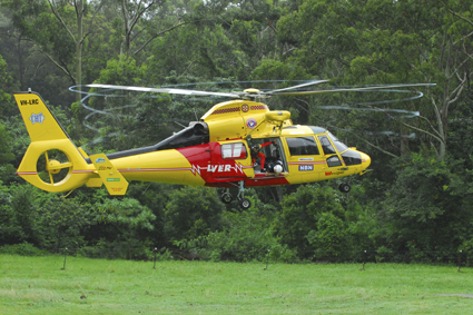 To the rescue ... Coffs Harbour is still waiting to become a base for a Westpac Lifesaver helicopter.