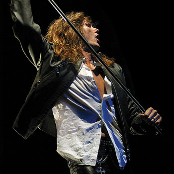 David Coverdale of 80's icons Whitesnake gets his leather slacks all sweaty.