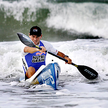 163325g Ironman Dean Mercer is happy to exchange the chill of Melbourne for Coolum's warmer waters.