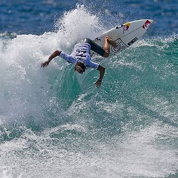 Julian Wilson could find himself matched against surfing superstar Kelly Slater again next week.