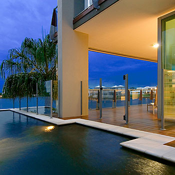 Experience this exclusive ground floor penthouse in the spectacular Water Gallery complex.