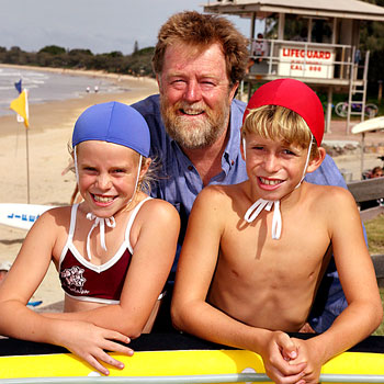 31/01/08                    172468a      Kawana Hardware's Ian Witten with Ashleigh 9 and Jayden 11, Who have won $10,000 towards Mooloolaba nippers thanks to a home hardware competition.    Photo: Jason Dougherty