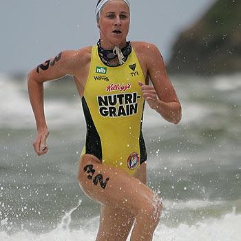 Alicia Marriott at the 2008 Nutri-Grain ironman series at Coolum Beach. Photo: Brett Wortman/bw172810a65