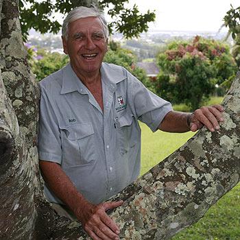 Bob Firth of Rockafellas Landscape Care is reaching new heights. Photo: Kari Bourne/KB172763a