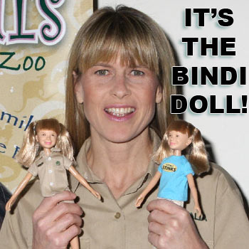 Terri Irwin is snapped after launching the doll in daughter Bindi's honour in New York over the weekend.