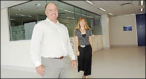 NEW HOME: In the DOCS building are client services manager Michael Buckley, and regional director Susan Priivald. Picture: JACK