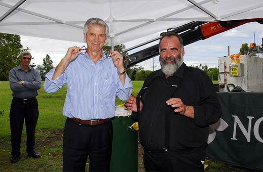 Bruce Davidson with former Noosa mayor Bob Abbot.