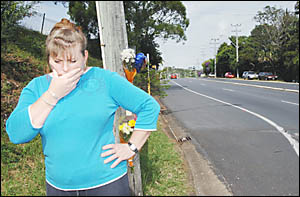 Lismore Heights resident Pam Robinson was among those who assisted at the fatal accident scene in the early hours of Sunday mor