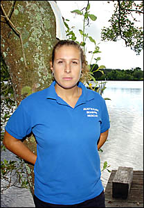 Karina De Luca of Australian Seabird Rescue is hopeful that the not for profit organisation will not have to pay the sewer conn
