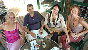 SHARED WISDOM: Parents need to support each other to tackle youth binge drinking, according to these parents (from left) Gai-Mo