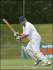 All-rounder Paul McLean in action with the bat in Souths' semi-final against Casino Cavaliers.