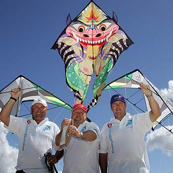 Coolum Kite Festival representatives heading off to China are (L-R) Noel Mooney, Russell Hammond and Steve Donovan. Photo: Brett Wortman/bw173836b