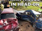 Fatal crash on Steve Irwin Way at Landsbrough. Photo: Jason Dougherty