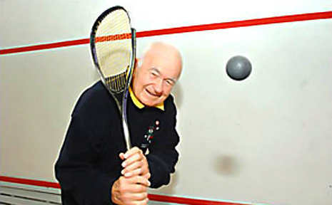 Henry 'Harry' Rigby at the Lismore Squash Centre. The contract for the sale of the courts has been signed.