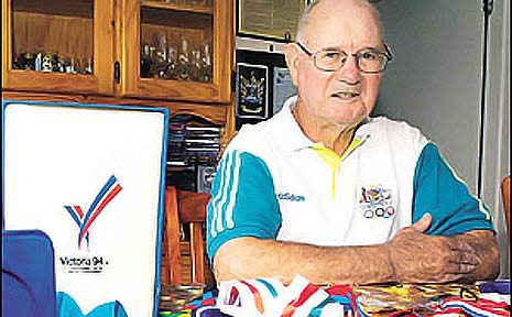 Barry Saxby, of Ballina, will watch on television as his daughter, former Olympian Kerry Saxby-Junna, carries the Olympic torch.