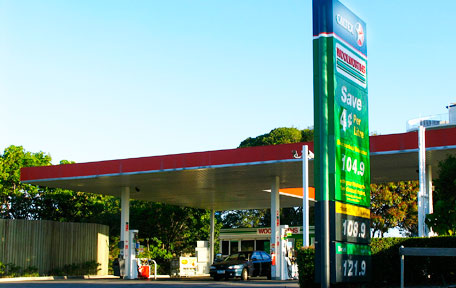 Caltex blames high cost of crude oil for continual rise of petrol prices.