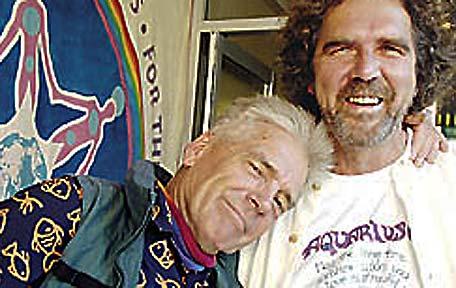 Remembering the Aquaruis Festival are Paul Joseph (left) and Graeme Dunstan.
