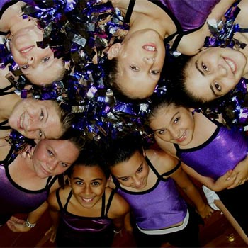 The Sandgate Cheerleading group will compete on Sunday.