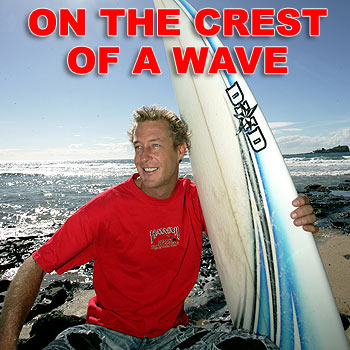 Justin Grover's surfing travel series will appear on American cable network Fuel TV. Photo: Chris McCormack/cm174424b