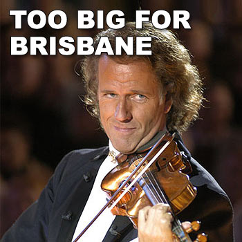 Acclaimed violinist André Rieu was to make a surprise performance and signing session in Queen Street Mall on Friday May 9, however, due to the level of interest received from the public, organisers have had to relocate the appearance.