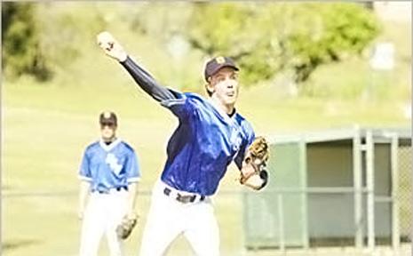 NSW schoolboy pitcher Adam Spencer.