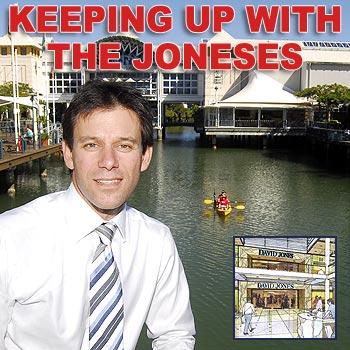 David Jones manager Antony Karp announces plans for a DJs store at the Sunshine Plaza. Photo: Che Chapman/174556
