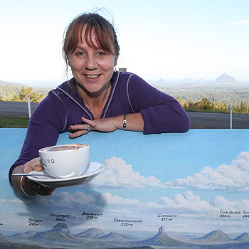 Sarah Castaldi is the new owner of the Mary Cairncross Kiosk at Maleny. Photo: Nicholas Falconer/174509
