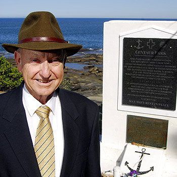 Caloundra's Keith Clegg was only seven when the hospital ship the Centaur sank, killing his 39-year-old father, Percy Lewis Clegg. Photo: Che Chapman/174564