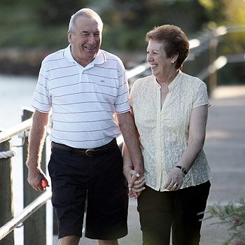 Colin Blythe, 65, and wife Dorothy, of Twin Waters, are enjoying life again after Colin received a new heart from a 45-year-old.  Photo: Chris mccormack/cm174579a