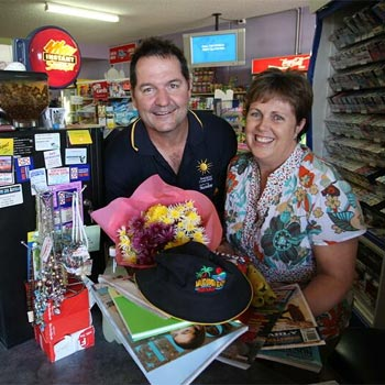 Mudjimba Beach News and General Store owners Mark and Jenny Parsons are renowned for their customer service despite the decline in service across the coast. Michaela O'Neil / 174592