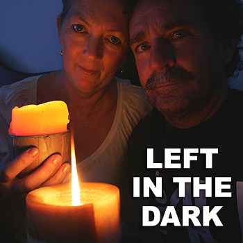 Dannie and Diane Castle have been without power since moving into their rented house at Mudjimba. Photo: Chris McCormack/cm174359