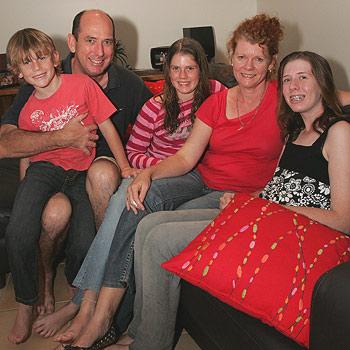 The McLaughlin family, Joe and Anne and their children Sophie, 13, Sabrina, 11, and John, eight. Photo: Brett Wortman/bw174692