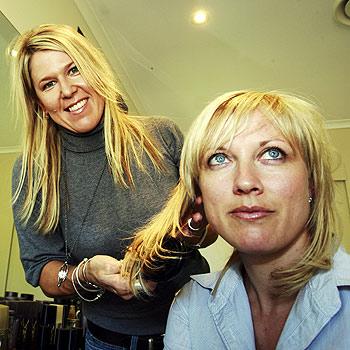 Buderim hairdresser Pam Stewart (foreground) recently worked at Fashion Week. Photo:Barry Leddicoat/174640