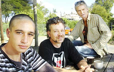Shane Ohia Jonston, Damian (last name withheld), and Gary Berri all of Lismore are hopeful that the Lismore Council will move quickly on plans to build a homeless shelter in the city.