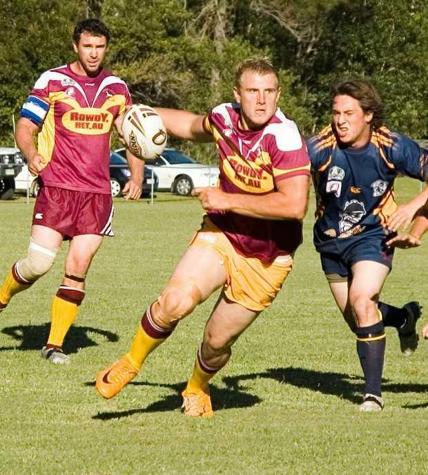 Luke Burns in action for Coolum.