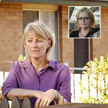 Sharon Doyle outside the Toowomba flat where her mother, Beryl Wright, lived for five years. Inset, Mrs Wright's other daughter Kate Garner. Main photo: Nev Madsen. Inset photo: Brett Wortman/174756
