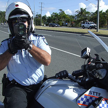 Senior Constable Terry McDonnell will be watching motorists closely for today's Fatality Free Friday. Photo: Candice Holznagel