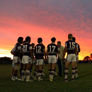 The Sunshine Coast Sea Eagles will take on competition leaders Wynnum Manly tomorrow. Photo: Cade Moooney/cm173748b