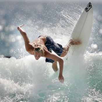Surfer Blake Wilson in action. Photo:Nicholas Falconer