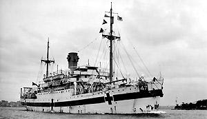 Centaur Hospital Ship image courtesy of the Australian War Memorial, accession no. 302800.