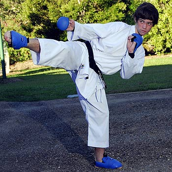 Luke Walker from Doonan has been selected in the Australian Karate Team to compete in the Oceania Titles in New Zealand. Photo: Geoff Potter/ n20574b