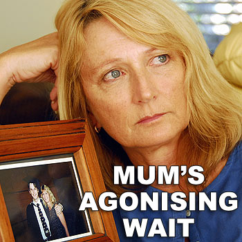 Rada Van Der Werss with a photograph of her son, Matthew Lister, who died in a mine accident in Tasmania. Photo: Geoff Potter/n20573b