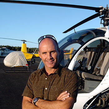 Grant Kenny's aviation company has won a $50 million Queensland government contract to provide marine pilot transfers at two of the state's busiest ports. Photo: Michaela O'Neill/165729