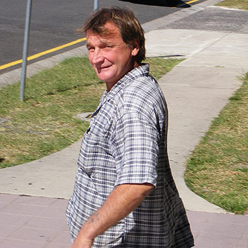 Patrick Linsdell leaves Maroochydore Court after being paroled following a domestic disturbance last November. Photo: 174917