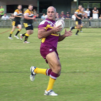 Dale Shearer in action against Caboolture last Saturday.
