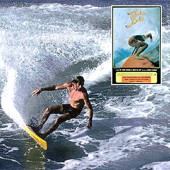 Michael Peterson surfing at Kirra in one of the scenes from 1976 surf movie Tubular Swells.