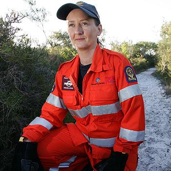 SES volunteer Sandie Wallison at Currimundi Lake Conservation Park. Photo: Chris McCormack/174919b